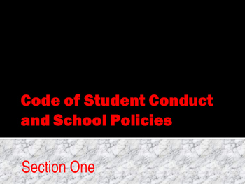 Student Code of Conduct - Discipline Levels