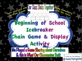 Beginning of School Icebreaker Chain Game and Display Activity