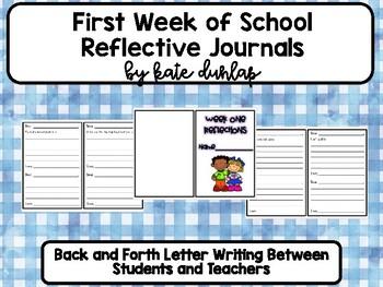 Beginning of School Journal