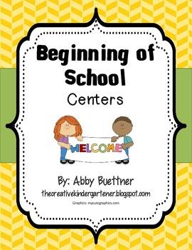 Beginning of School Math & Literacy Centers