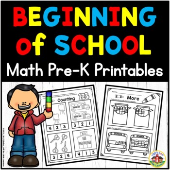 Beginning of School Math Preschool Printables