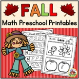 Fall Math Preschool Printables