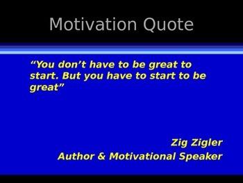 Beginning of School - Motivation & Goal Setting