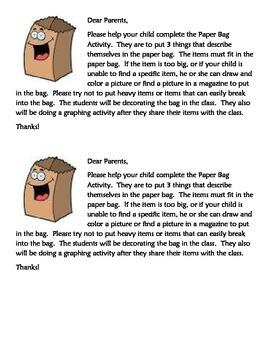 Beginning of School-Paper Bag Activity