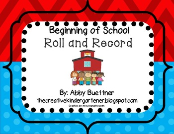Beginning of School Roll and Record Math Center
