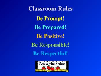 Beginning of School - Rules, Behaviors & Consequences