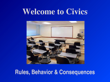 Beginning of School - Rules, Behaviors & Consequences