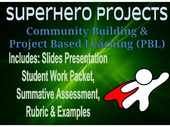 First Day / Week of School Superhero Stories w/ pres. and Community Building