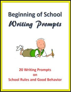 Beginning of School Writing Prompts