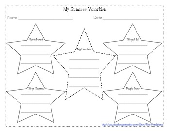 Beginning of School Writing Templates and Graphic Organizers