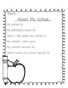 Beginning of School Year Activity Packet