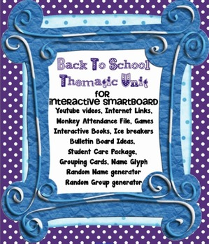 Beginning of  School Year First Day Activities - Back to School SMARTboard file