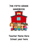 Beginning of School Year Handbook **Editable