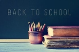Beginning of School Year Lesson/Activity BUNDLE
