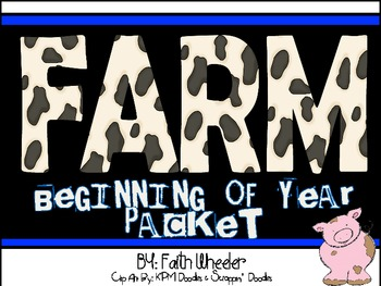 Back to School Farm Decor