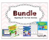 Beginning of The Year Activities - Bundle