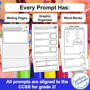 Writing Prompts for Second Graders | Back to School Themes