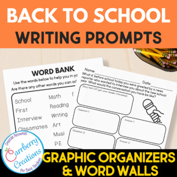 Writing Prompts 2nd Grade : Back to School