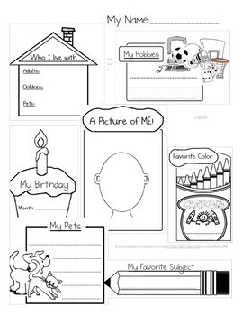 Beginning of Year- 1st Day Activity Packet