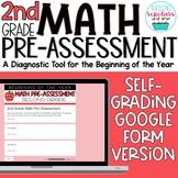 Beginning of Year 2nd Grade Math Pre-Assessment Google For