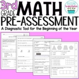 Beginning of Year 3rd Grade Math Pre-Assessment