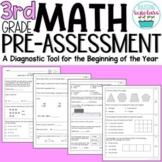 Beginning of Year 3rd Grade Math Pre-Assessment
