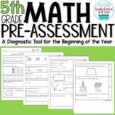 Beginning of Year 5th Grade Math Pre-Assessment