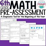Beginning of Year 6th Grade Math Pre-Assessment