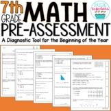 Beginning of Year 7th Grade Math Pre-Assessment
