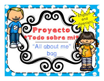 Beginning of Year All about me bag English and Spanish/ Bolsa Todo sobre mi