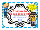 Beginning of Year All about me bag English and Spanish/ Bo