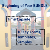 Beginning of Year BUNDLE: Forms & Time Capsule Activities