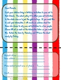 Beginning of Year Birthday Note