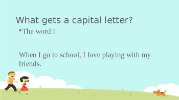 Introduction to Capitalization Powerpoint Lesson