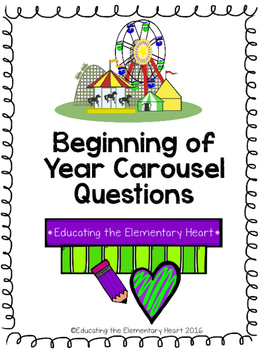 Beginning of Year Carousel Activity