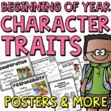 Beginning of the Year: Character Traits Printables