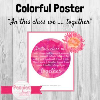 Beginning of Year Classroom Poster