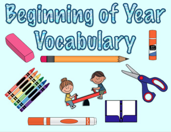 Beginning of Year Classroom Words