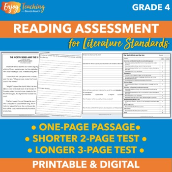 Beginning of Year Reading Assessment for Fourth Grade