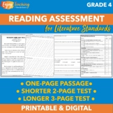 Beginning of Year Reading Assessment or Test Prep for Fourth Grade