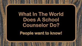 Beginning of Year Counselor Introduction Lesson w Kid President Video