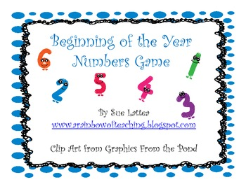 Beginning of Year Counting Game