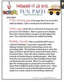 Beginning of Year FUN PACK! sticker page, birthday journal