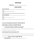Beginning of Year Family Survey
