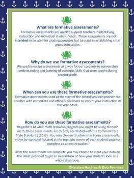 Nautical Gr. 3 Beginning of Year Formative Assessment-Geometry- with Common Core
