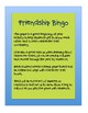 Beginning of Year Friendship Bingo Game