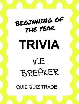 Beginning of Year Ice Breaker Trivia