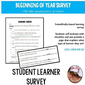 Beginning of Year Learner Survey