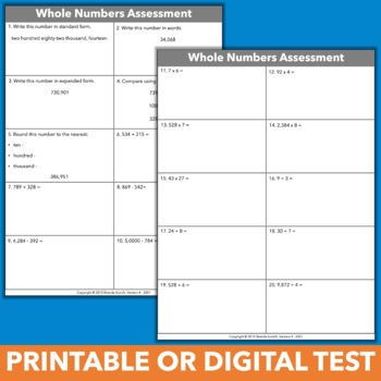 Beginning of Year Math Assessment and Checklists - Task Card Format