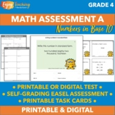 Beginning of Year Math Assessment and Checklists (Fourth Grade - Whole Numbers)